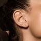 Лабрет-крест из титана для пирсинга хряща уха, губ