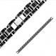 Биколорный черно-серебристый браслет SPIKES